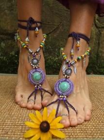 Gypsy Purple Dream Barefoot Sandals Leaf Gpyoga