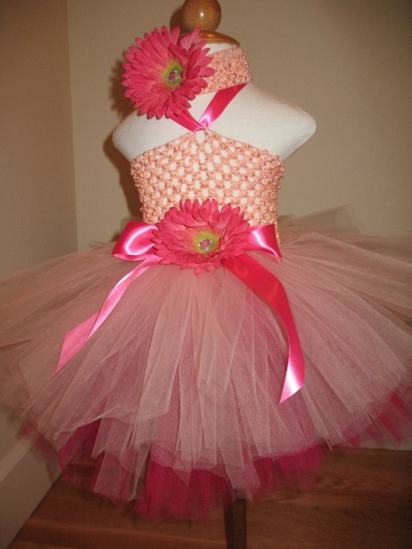 Strawberry Shortcake Princess Crochet Tutu Dress And