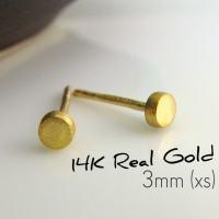 Men's stud earrings solar orbit stud earrings small