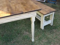 Farm Table and 2 Benches-FARMHOUSE DINING TABLE and benches