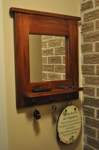 Entryway Mirror With Key Hooks | Natural Interior Design