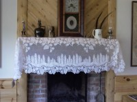 Pinecone lace fireplace mantle scarf New with tags by ...