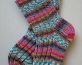hand knitted merino wool toddler socks, 18 - 24 months - sockysocks