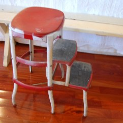Old Fashioned Kitchen Chair Step Stool Interior Designs For And Living Room Vintage Farm Red White By Retro Daisy