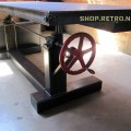French industrial adjustable height desk by vintageindustrial