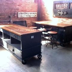 Industrial Kitchen Island Cabinet Door Bumper Pads Vintage Antique By