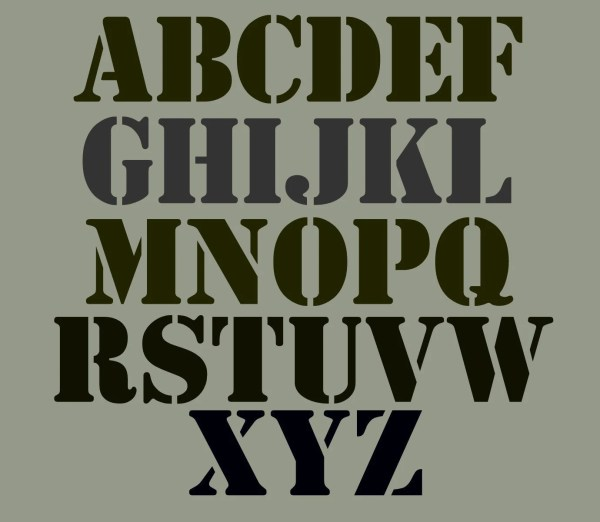 Stencil Alphabet Set 3 Bold And Chunky Upper Case Free