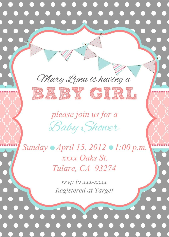 Invitations Shower Baby