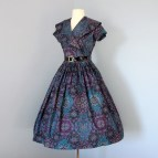 Cotton Day Dress 1950s