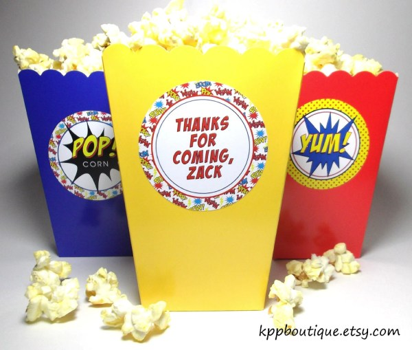 Personalized Superhero Popcorn Snack Boxes Kppboutique