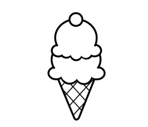 ice cream cone simple drawn rubber handmade clear stamp clipartmag
