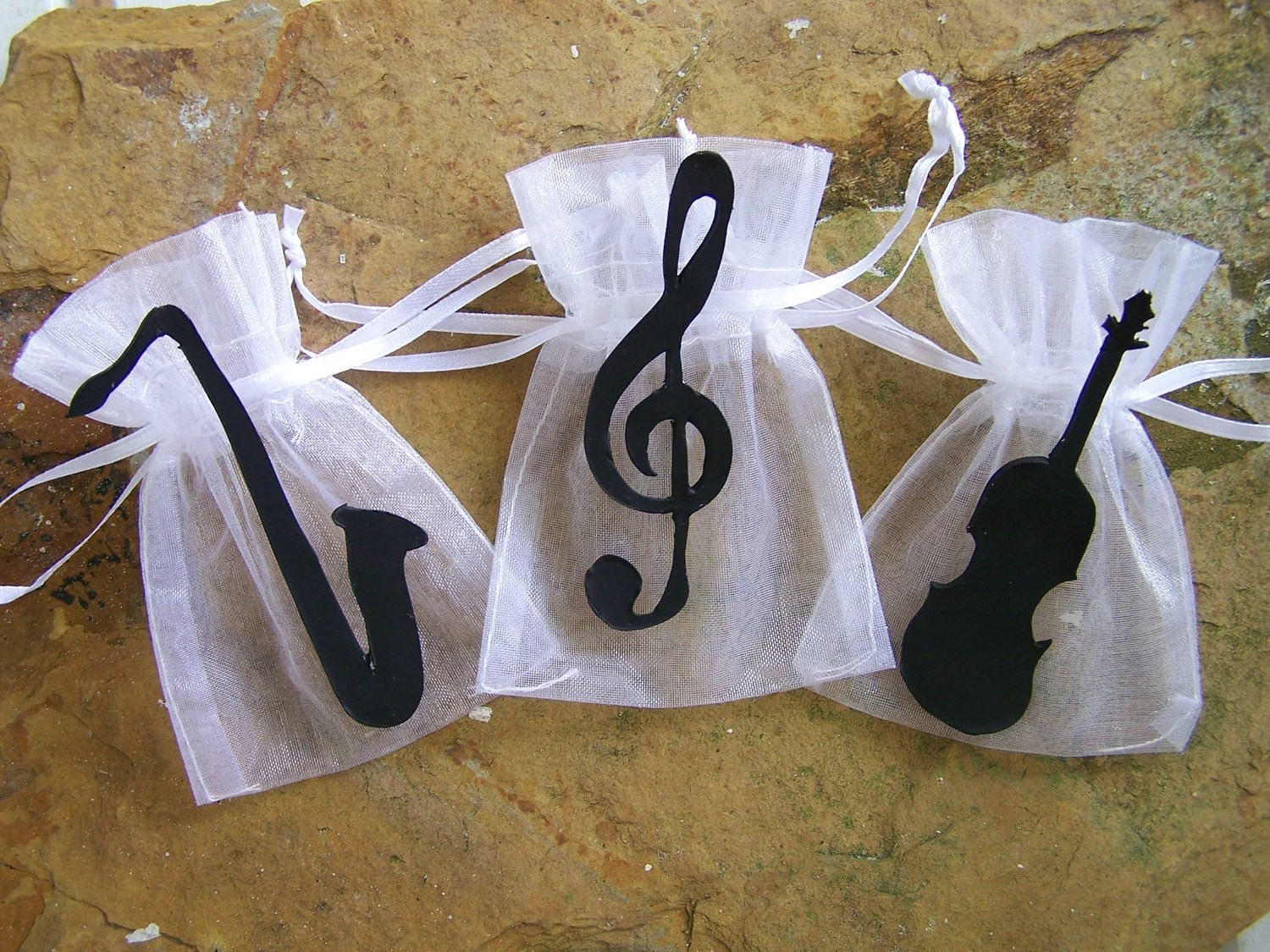 Items similar to Music party supplies theme Favor bags 10