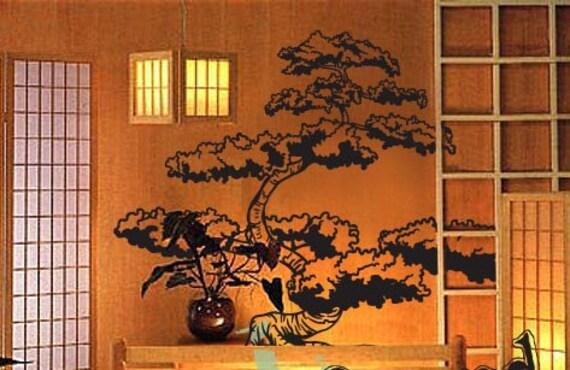 Vinyl Wall Art Decal Sticker Japanese Bonsai Tree 344s