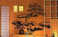 Vinyl Wall Art Decal Sticker Japanese Bonsai Tree 344s