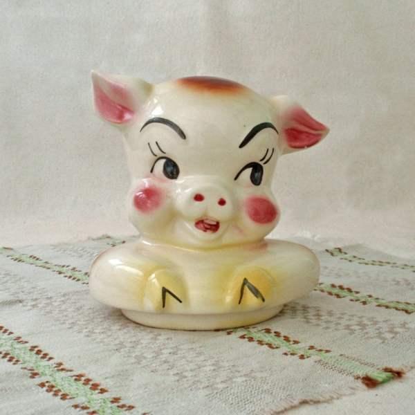 American Bisque Pig Cookie Jar