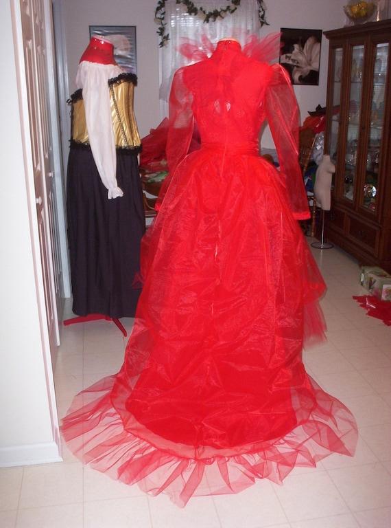 Items similar to Custom Made Lydia Deetz BeetleJuice Red Wedding Dress Costume on Etsy