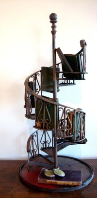 Vintage Miniature Architectural Model for a Spiral Staircase.
