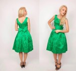 1950s Cocktail Dress Kelly Green Vintage 50s
