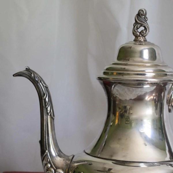 Vintage Silver Plate Teapot Oneida Usa Coffee Pot