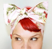 bow style vintage inspired head