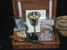 Wood Portable Basic Ritual Altar In Box Kit Wicca Pagan