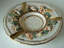 Vintage Italian Art Pottery Capodimonte Ashtray Italy Mid