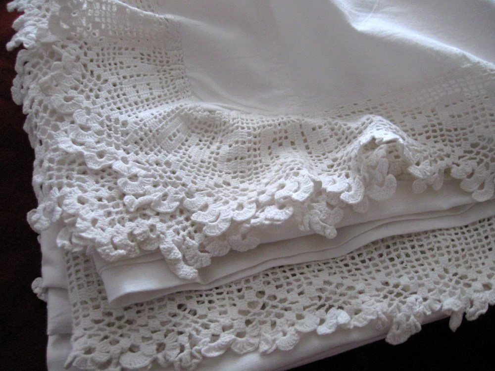 RESERVED Vintage Antique Bed Sheet White Cotton Flat Love Me