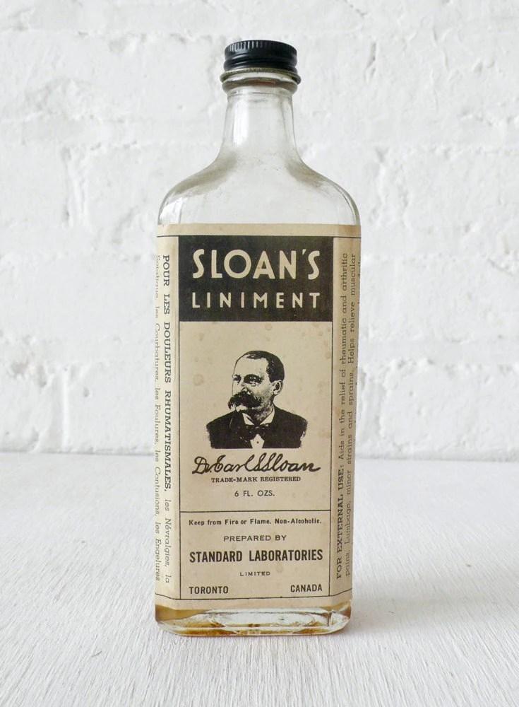 10 SALE Vintage Sloans Liniment Bottle by EarthSeaWarrior