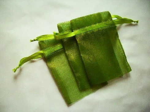 Moss Green Organza Bags / favor bags set of 60 bags 4 x 6 inch Great for handmade soaps, herbs, tea, jewelry etc. - Handmadebyani