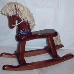 Personalized Rocking Chair For Toddlers Modern Accent Chairs Living Room Handcrafted Horse