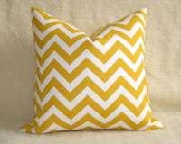Outdoor Chevron Decorative Pillow Yellow White by ...