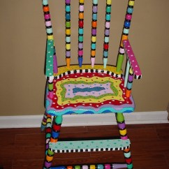Old High Chair Ideas 2 Person Rocking Hand Painted Wooden Highchair