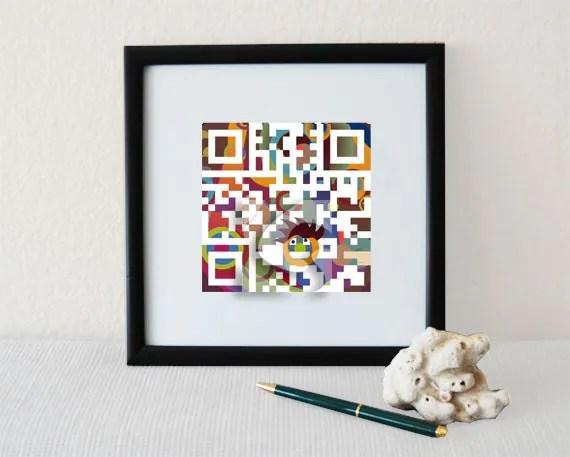 QR Code Art - Scan to get