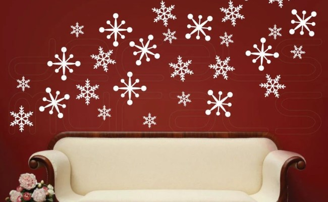Wall Decals Snowflakes Christmas Wall Decor Holidays Interior
