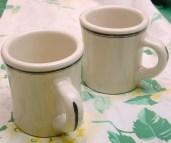 Image result for Old-Fashioned Diner Brown Stripe Mugs
