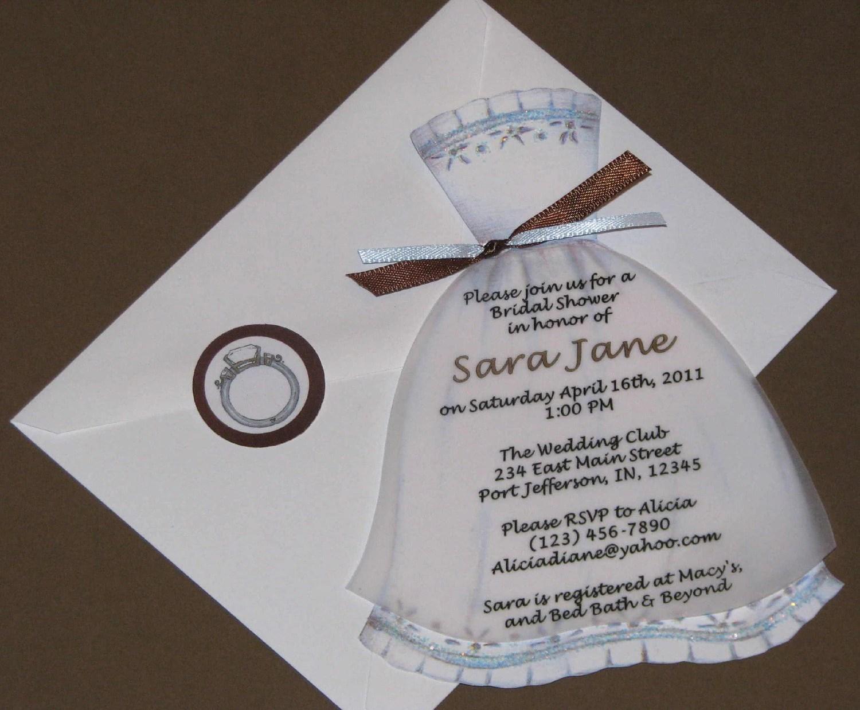 Custom Wedding Shower Invitations