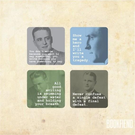 F. Scott Fitzgerald magnet set