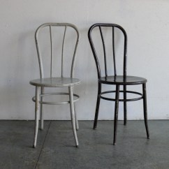 Chair Glides For Metal Chairs Cover Rental Milwaukee Vintage Industrial Cafe Set Of 2