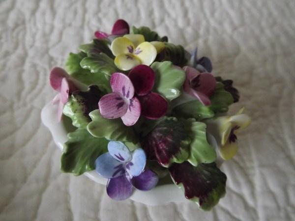 Vintage Royal Adderley England Bone China Flowers In Shell