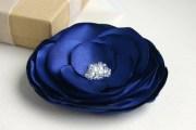 blue flower hair accessory navy