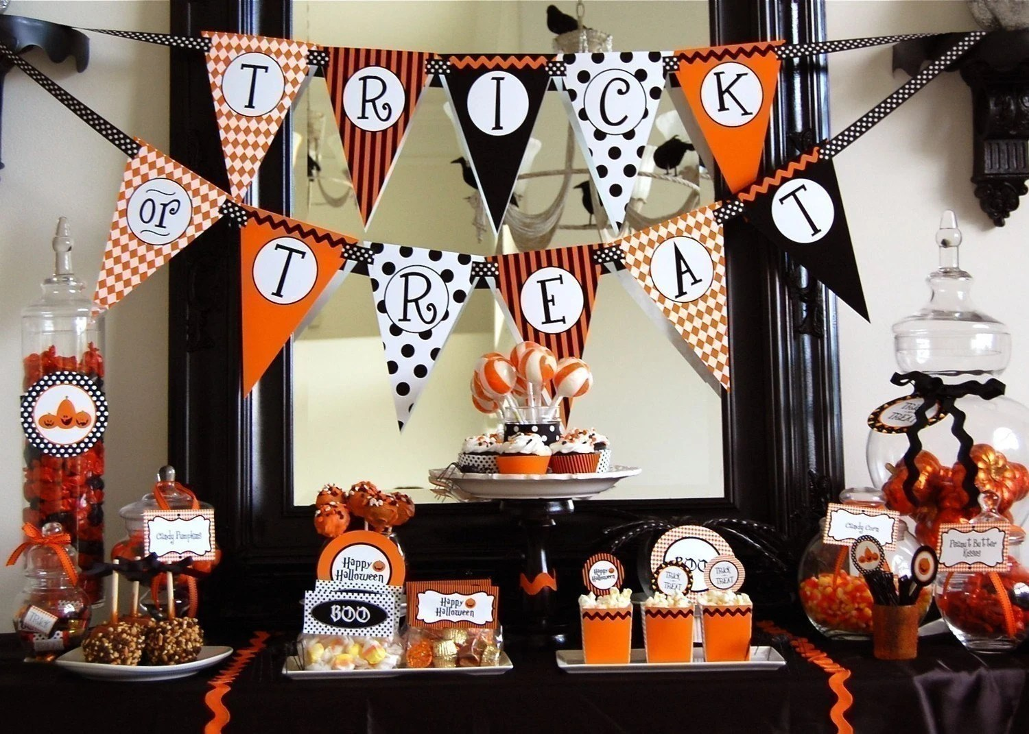 Halloween Trick Or Treat Printable Party Instant Download