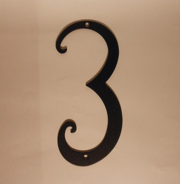 Antique Style Black Metal House Number 5.75 Inches