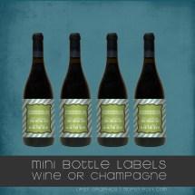 Personalized Mini Wine Bottle Labels