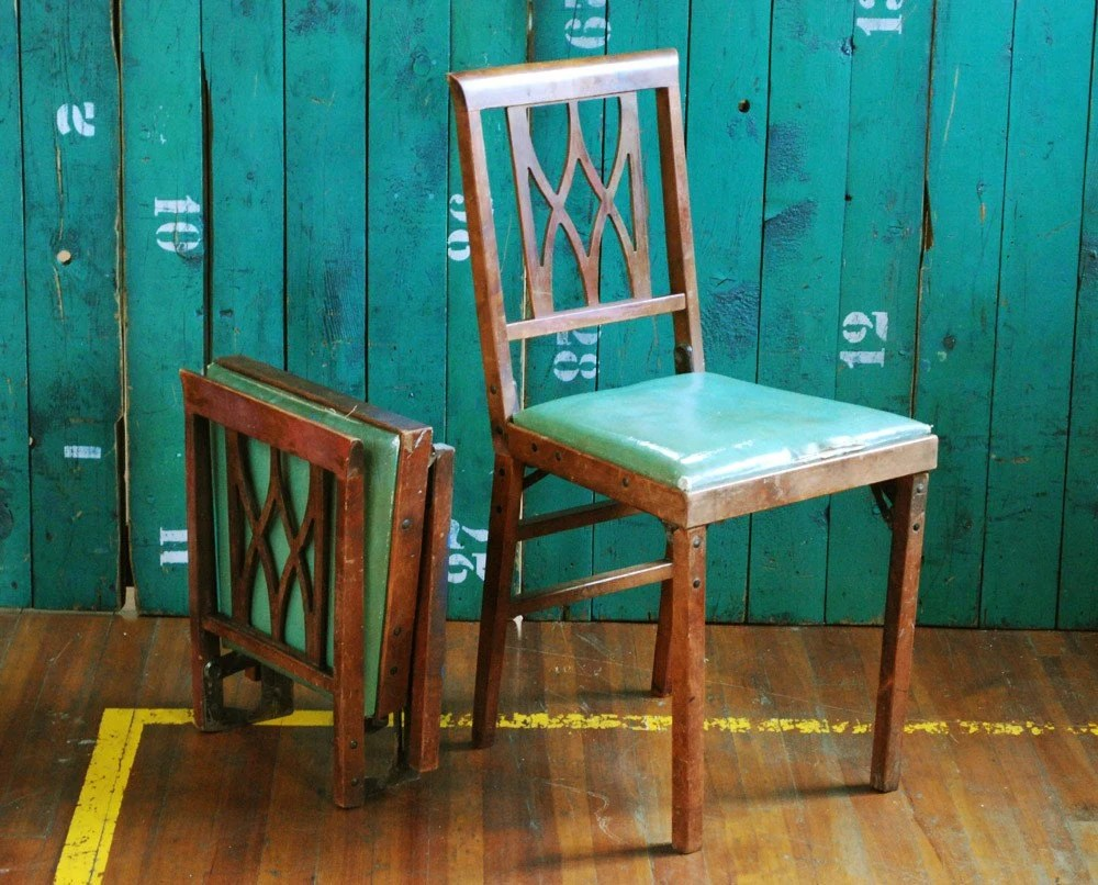 Pair of Leg O Matic Folding Chairs