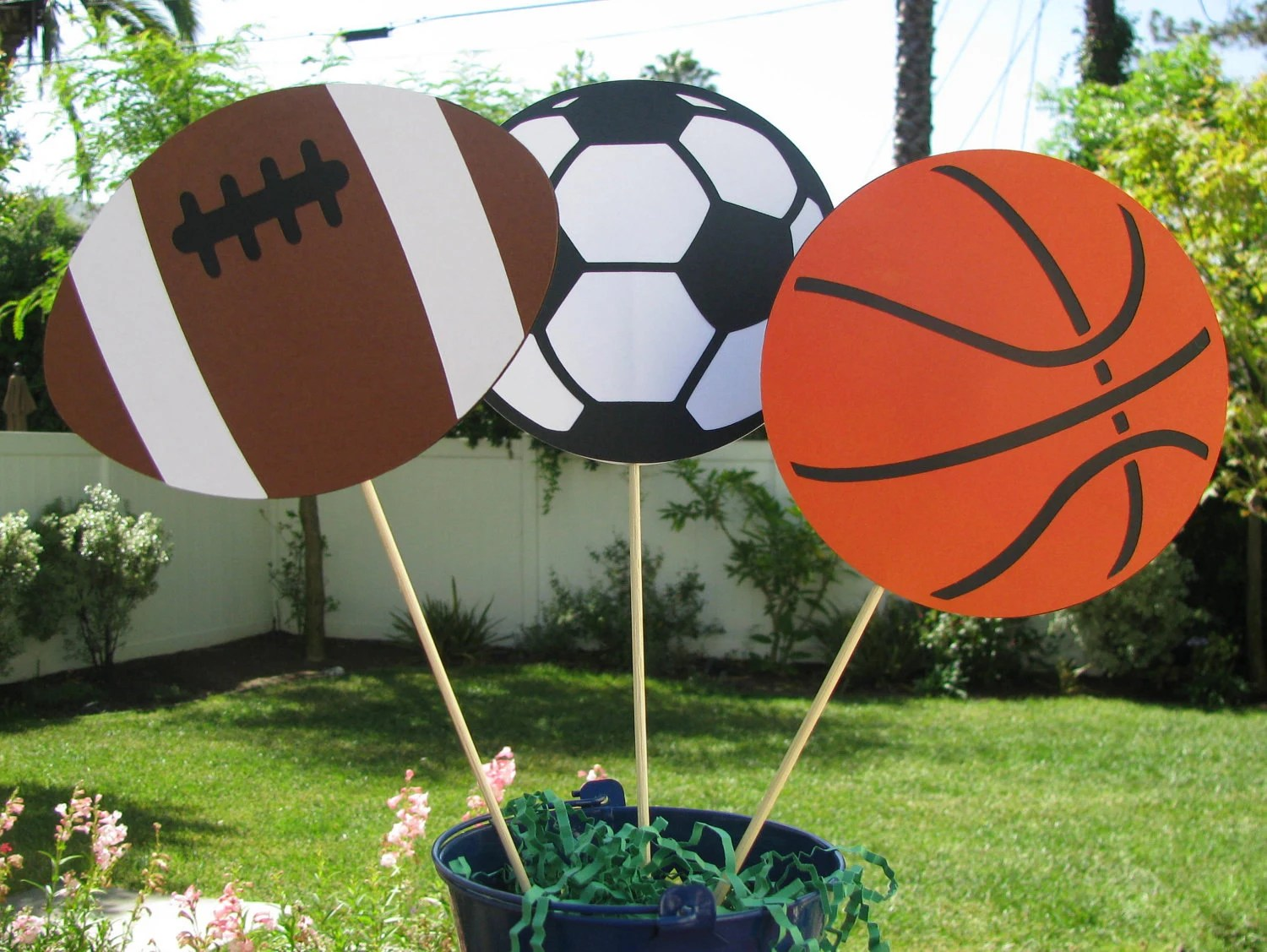 Sports Table Decorations Football Basketball Soccer Ball