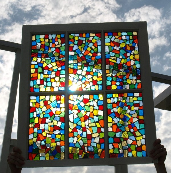 Reserved Listing Fleurme Stained Glass Mosaic Repurposed