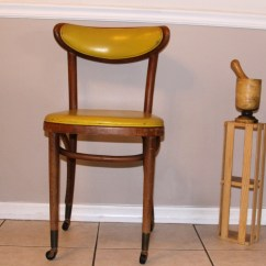 Shelby Williams Chairs Wrought Iron Chair Pads Ca 1950 Walnut With Casters