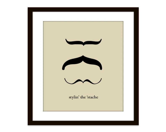 Mustache Funny Etsy