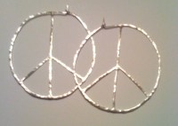 Large Peace Sign Hoop Earrings by Bybella on Etsy