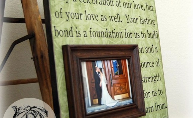 Parent Wedding Gift Personalized Picture Frame By